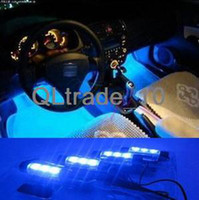 Wholesale New V X Blue LED Car Interior Dash Floor Foot Decoration Light Lamp Xmas Gift TV161