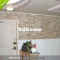 Wholesale Pvc wallpaper brick rustic Wallpaper brief self adhesive sticky notes meters