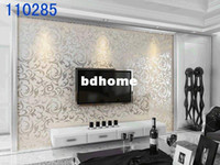 Wholesale Free Ship Wallpaper High Quality Flocking Wall Paper Modern Simple Design Decorative Wallpaper TV Setting Wall bedroom Porch