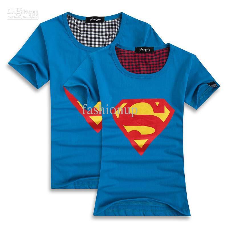 Fashion Superhero T shirts Women and Men Cotton T-shirt Tee Top AMY7