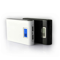 Wholesale Mah Portable Power Bank travel charger external battery for iphone mobile with lcd screen led light