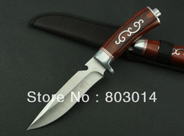 Wholesale New Columbia rose wood handle Fixed Blade Survival Bowie Hunting Knife survival knife K B