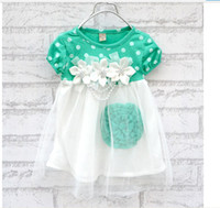 Wholesale girls tutu dress summer girls flower lace dress girls party dress children PRINCESS dress