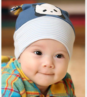 Wholesale Fall new infants hats private baby hat hat lovely panda turtleneck cap