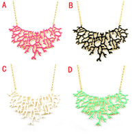 Wholesale New arrival Hot sale New design Coral design bib statement summer necklace jewelry colors NL