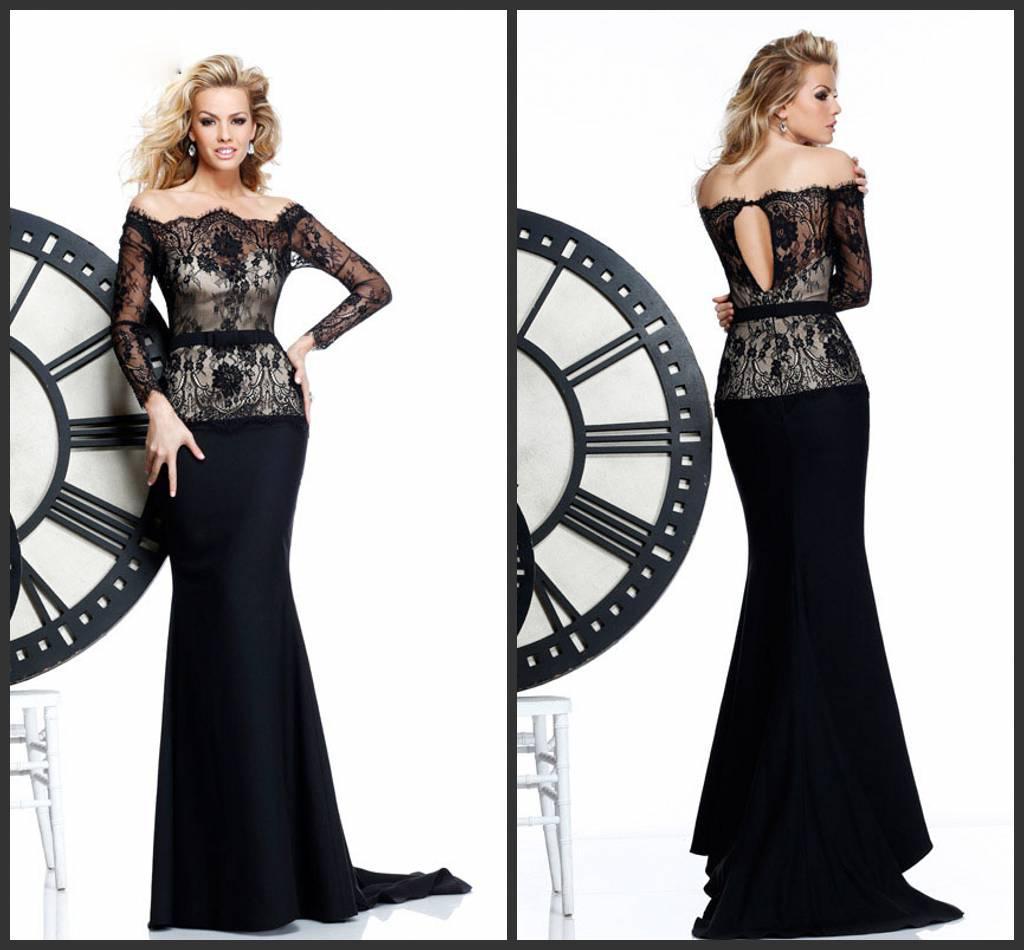 2015 New Arrival!!!! Tarik Ediz Evening Dresses Sexy Long Sleeve ...