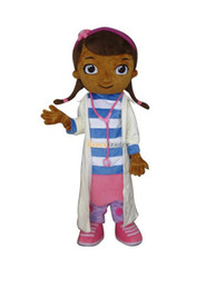 Wholesale Deluxe EVA Head Dottie McStuffins Doc McStuffins Mascot Costume Same as Pictured with helmet and mini fan FT30532