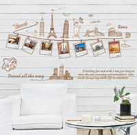 Wholesale 60 cm photo wall stickers Eiffel Tower London bridge decals murals for sofa backdrop bedroom t5516