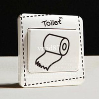 Wholesale Hot creative switch stickers Creative comic series bedroom parlor wall stickers