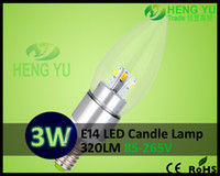 Wholesale New Concept CE CREE W Candle Light degree lighting E14 E27 SMD LED Bulb Lamp Warm White Cool White V for Worldwide