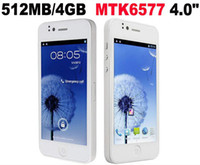 Wholesale Newest Goophone I5 Y6 Flying I inch HD screen Dual core MTK6577 Android Smart Phone i H2000 G GPS Dual Sim Russia