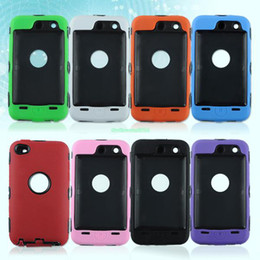 Wholesale EP4465 Tripe Layer Hard amp Soft Hybrid Case Screen Film For Apple iPod Touch G th