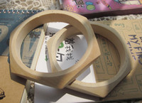 China-Tibet Unisex Party Top fashion original unfinished wooden bangles square wooden bracelet DIY wooden jewelry 12pcs