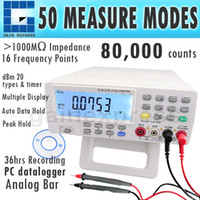 Wholesale VC8145 DMM Digital Bench Top Multimeter Temperature Meter Tester PC Analog counts Analog Bar Graph w segments