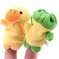 Wholesale 10 Set Cartoon Animal Plush Finger Puppets Finger Toys Finger Dolls Animal Dolls for Children Kids icloud