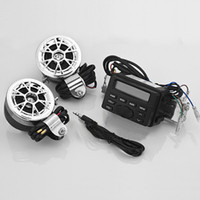 Wholesale MT723 Universal Motorcycle ATV UTV Waterproof Music Stereo Sound System AUX with FM Radio