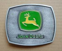 Wholesale Sliver color John deere Nothing runs like a deere BELT BUCKLE SW
