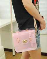 Wholesale Womens Sweet Jelly Clear Transparent Handbag Hobo Tote Shoulder Bags