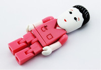 Wholesale Cartoon beautiful nurse USB Real GB GB GB GB GB Memory Novelty Drive Flash Memory Stick with tin gift box best2011