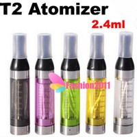 10pcs T2 Clearomizer with Changeable Coil glass tank Atomize...