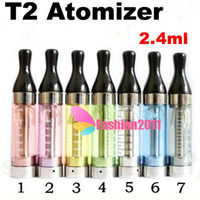 20pcs Colorful T2 Clearomizer 2. 4ml glass tank Atomizer for ...