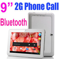 9 inch Single Core Android 4.0 9 Inch MTK6515 Android 4.0 GSM Sim Phone Call Tablet PC 1GHz Bluetooth Wifi Capacitive Screen 4GB 512M RAM Dual Camera Play Store