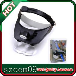 Wholesale 3LED Adjustable Brightness Light x x x x Magnifying Glass Jewelry Headband Magnifier