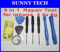 Wholesale 9 in Repair Opening Pry Tools Kit Set For iPhone S repair opening tools