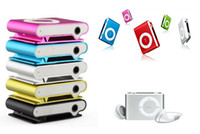 Wholesale Promotion DHL mini clip mp3 player with card slot MP3 USB Earphone Box gift MP3