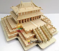 Wholesale 2013 Diy craft wooden jigsaw puzzle intelligence D children s educational toys assembled model Hall of Supreme Harmony CY025