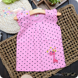 Wholesale T shirts Cotton Sleeveless T shirts Children Clothes Fawn Spot X