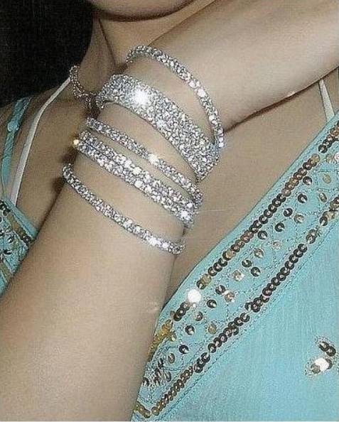 2017 Bauble Crystal Bracelets Bangle Single 1 Row Diamond ...