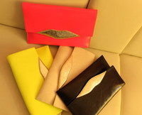 Wholesale Fashion Envelope Lips Style Womens Leather Long Purse Clutch Wallet Bags Handbag New