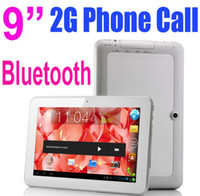 9 inch Single Core Android 4.0 New 9 Inch MTK6515 Android 4.0 2G GSM Mobile Phone Tablet PC 1GHz Bluetooth Wifi 5 Point Capacitive Screen 4GB 512M Dual Camera