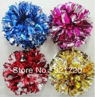 Cheap sports pom pons Best 27cm,32cm gold,red,green,blue,fuschia,purple cheerleading pompoms