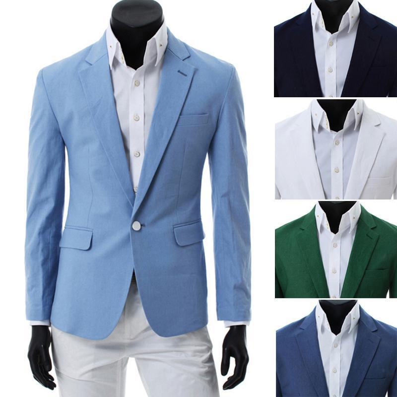 Casual Suit Jackets For Men Men 39 s One Button Casual Suit