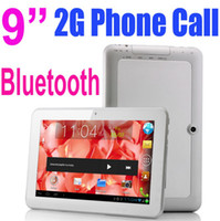 9 inch Single Core Android 4.0 9 Inch MTK6515 Phone Call Tablet PC 2G GSM Sim Card Android 4.0 1GHz Bluetooth Wifi 5 Point Capacitive Screen 4GB 512M Dual Camera