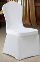 Wholesale 100pcs white color spandex chair cover banquet wedding party