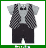 0-3 Months Boy Summer Summer Classic Baby Boy Girl's Romper Infant Gentleman Suspender Short Sleeves Bow Tie Romper Kids One-piece Clothes