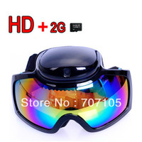 2G Yes  HD 720p Ski Sport glasses video camera Goggles Sunglasses DVR cam + 2GB TF Card