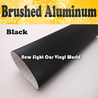 Wholesale FedEx High Quality Black Brushed Metal Vinyl Film For Car Wraps With Air Bubble Free Size M Roll