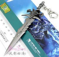 Wholesale WOW Sword model in Frostmourne Keychain toy Pendants Arthas Menethil Cosplay No blade World of warcraft Gift EB63