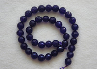 Wholesale Brand New mm Natural Purple Jade Faceted Round Loose Beads inch