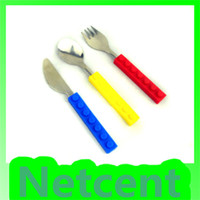 Wholesale 3 In Tableware Set Novelty Design Silicone Knife Fork Spoon set