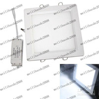 LED big ceiling lights - Cool White V V K W Big Square Panel LED Ceiling Light Lamp JS0196 MYY152