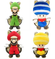 Video Games april doll - Super Mario Wii U Musasabi Flying Squirrel Mario quot Plush Figure Doll styles can choose