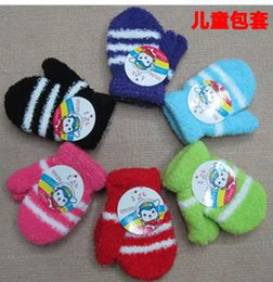 Wholesale Winter fashion cute preschool children mittens baby fleece is soft bag set of gloves