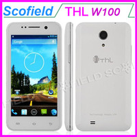 "THL 4.5 Android 4.2 4.5"" THL W100S w100 Android Cell Phone IPS QHD MTK6582M Quad Core 1GB RAM 4GB ROM 12.6MP Camera 3G GPS Android 4.2"