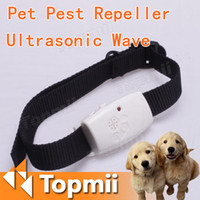 Wholesale 1pcs Ultrasonic wave Pet s Pest Repeller pack Pest Repeller with Collar for Dog Cat Pets x LR44 NO RETAIL BOX