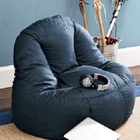 Wholesale dark blue lazy chair beanbag chair bean bags sofa soft chair cover